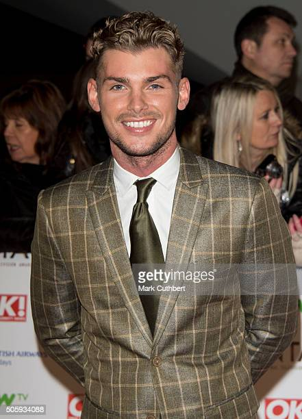 Kieron Richardson attends the 21st National Television Awards at The O2 Arena on January 20 2016 in London England