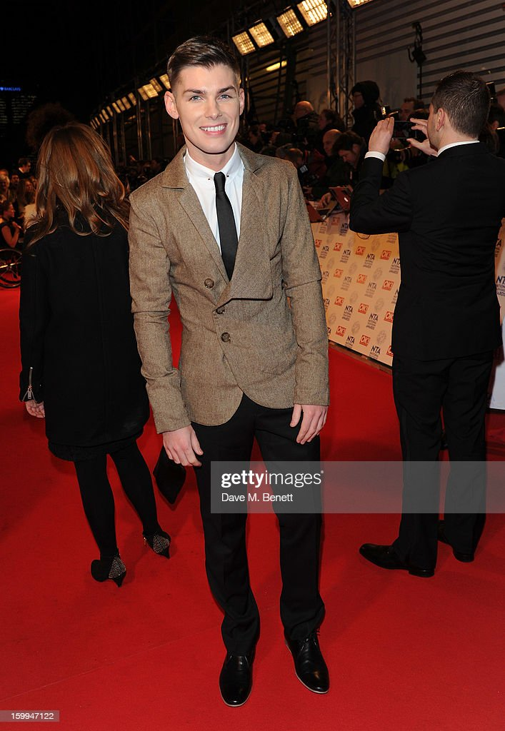 Kieron Richardson attends the the National Television Awards at 02 Arena on January 23, 2013 in London, England.