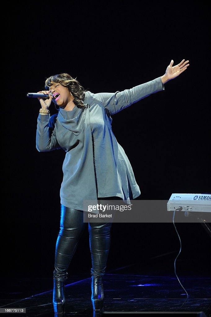 Kierra Sheard performs onstage at the BET Networks 2013 New York Upfront on April 16, 2013 in New York City.