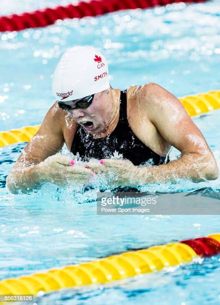 kierra Smith of Canada during the FINA Swimming World Cup Women's 200m Breaststroke Final on October 01 2017 in Hong Kong Hong Kong