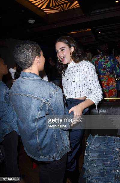 Kiersey Clemons and Grace Van Patten attend The ELLE Super Bowl Presented by AG on October 13 2017 in Los Angeles California