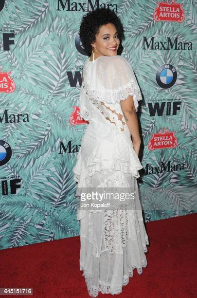 Kiersey Clemons arrives at the 10th Annual Women In Film PreOscar Cocktail Party at Nightingale Plaza on February 24 2017 in Los Angeles California