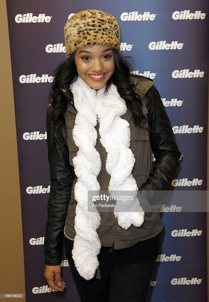 Kiersey Clemons attends Gillette Ask Couples at Sundance to 'Kiss & Tell' if They Prefer Stubble or Smooth Shaven - Day 2 on January 19, 2013 in Park City, Utah.