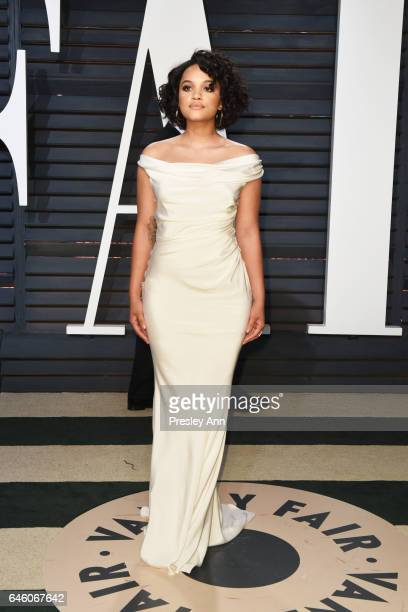 Kiersey Clemons attends the 2017 Vanity Fair Oscar Party hosted by Graydon Carter at Wallis Annenberg Center for the Performing Arts on February 26...