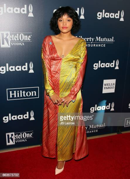 Kiersey Clemons attends the 28th Annual GLAAD Media Awards on April 01 2017 in Beverly Hills California