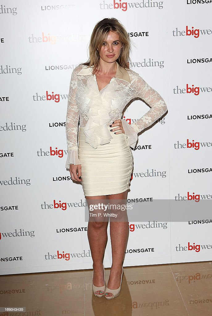 Kierston Waering attends Special screening of 'The Big Wedding' at May Fair Hotel on May 23, 2013 in London, England.