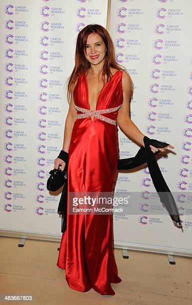 Kierston Wareing attends a fundraiser hosted by Journalist James Ingham in aid of Cancer Research UK ahead of his 2nd year running the London...