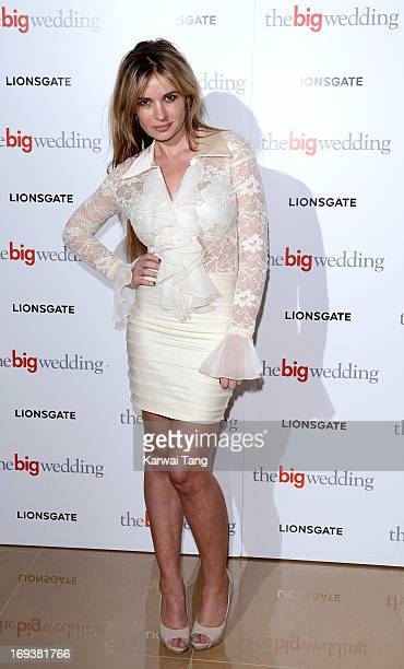 Kierston Wareing attends a special screening of 'The Big Wedding' at May Fair Hotel on May 23 2013 in London England