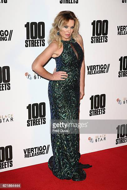 Kierston Wareing attends the UK premiere for '100 Streets' on November 8 2016 in London United Kingdom
