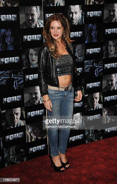 Kierston Wareing attends the UK premiere of 'Four' at The Empire Cinema on October 10 2011 in London England