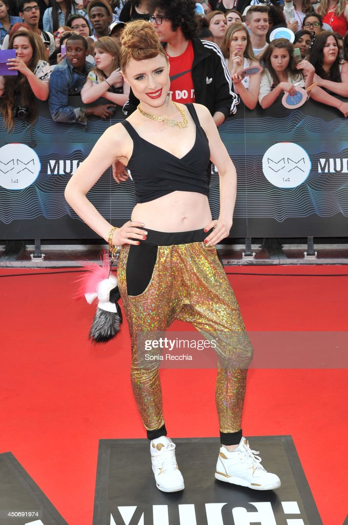 <a gi-track='captionPersonalityLinkClicked' href=/galleries/search?phrase=Kiesza&family=editorial&specificpeople=8891759 ng-click='$event.stopPropagation()'>Kiesza</a> arrives at the 2014 MuchMusic Video Awards at MuchMusic HQ on June 15, 2014 in Toronto, Canada.