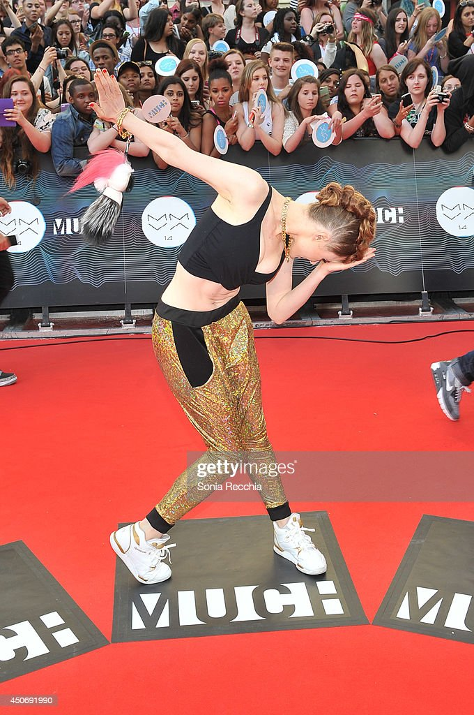 Kiesza arrives at the 2014 MuchMusic Video Awards at MuchMusic HQ on June 15, 2014 in Toronto, Canada.