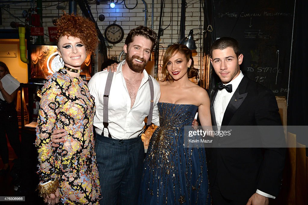 Kiesza Matthew Morrison Jennifer Lopez and Nick Jonas attend the 2015 Tony Awards at Radio City Music Hall on June 7 2015 in New York City