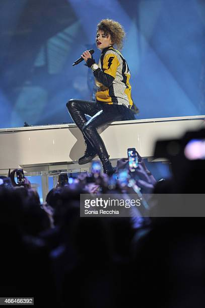 Kiesza performs at the 2015 JUNO Awards at FirstOntario Centre on March 15 2015 in Hamilton Canada