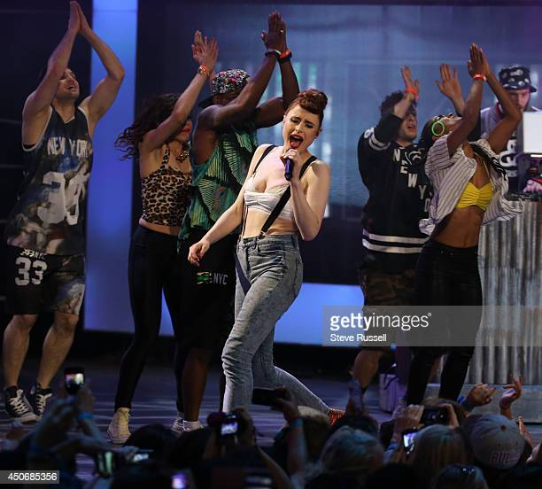 TORONTO JUNE 15 Kiesza performs at the MMVA 2014 awards show featuring some of the countries best talent on June 15 2014