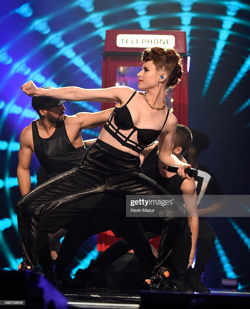 Kiesza performs at the MTV EMA's 2014 at The Hydro on November 9, 2014 in Glasgow, Scotland.