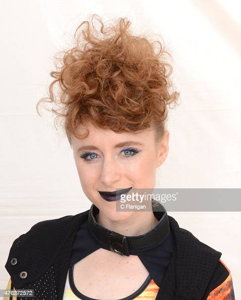 Kiesza poses backstage during 2015 Governors Ball Music Festival at Randall's Island on June 6 2015 in New York City