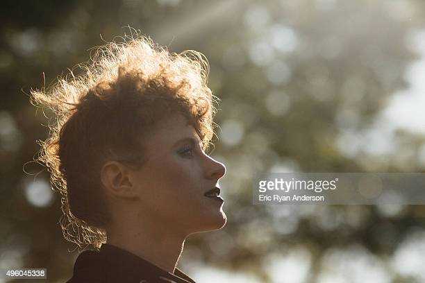 Kiesza poses for a portrait at the Governors Ball 2015 Music Festival for Billboard Magazine on June 6 2015 in New York City