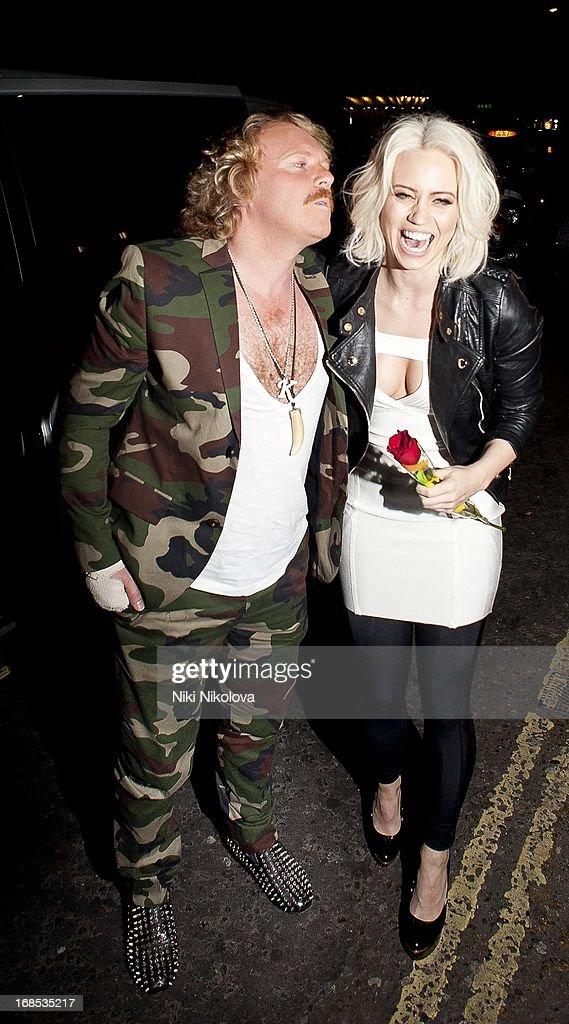 Kieth Lemon and Kimberly Wyatt sighting at Funky Buddha Club, Mayfair on May 10, 2013 in London, England.