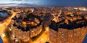 Kiev panorama at night