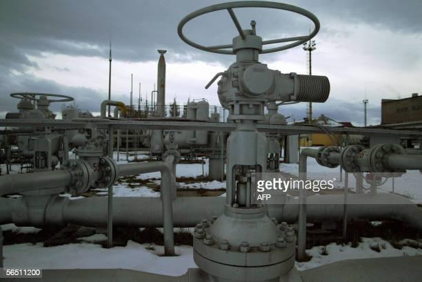 View of the Bogorechanke gasholder near IvanoFrankivsk district western border of Ukraine 02 January 2006 Europe began Monday to feel the chilling...