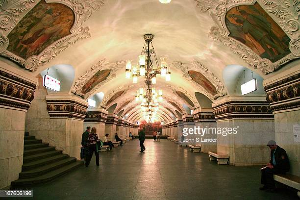 Kievskaya Station Moscow Metro The Moscow Metro is an attraction in itself with frescoed ceilings chandeliers art nouveau benches what other subway...
