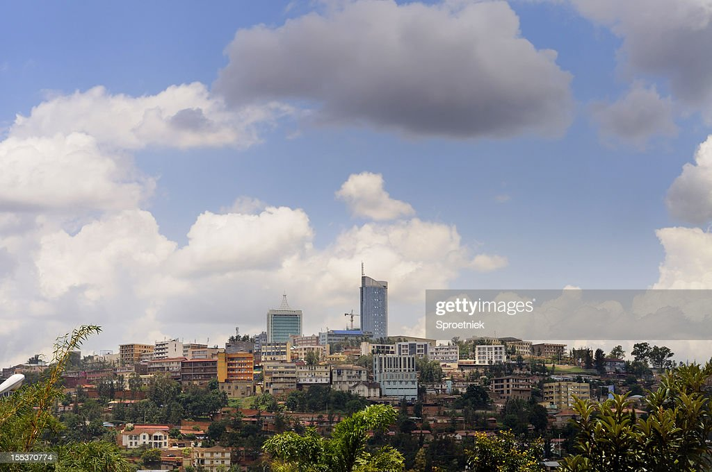 Kigali central business district skyline : Stock Photo
