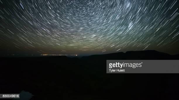 Kiger Gorge Night Sky Star Trails Over Oregon
