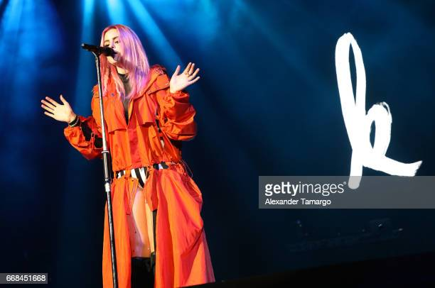 Kiiara is seen performing at the AmericanAirlines Arena on April 13 2017 in Miami Florida