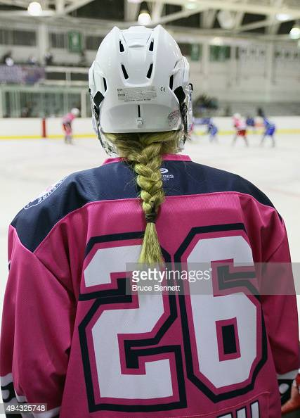 Kiira Dosdall of the New York Riveters of the National Womens Hockey League skates against the Connecticut Whale at the Aviator Sports and Event...
