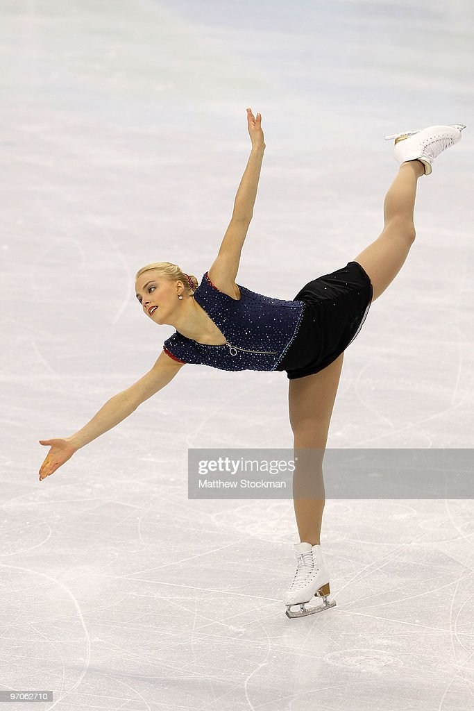 Kiira Korpi of Finlan competes in the Ladies Free Skating on day 14 of the 2010 Vancouver Winter Olympics at Pacific Coliseum on February 25 2010 in...