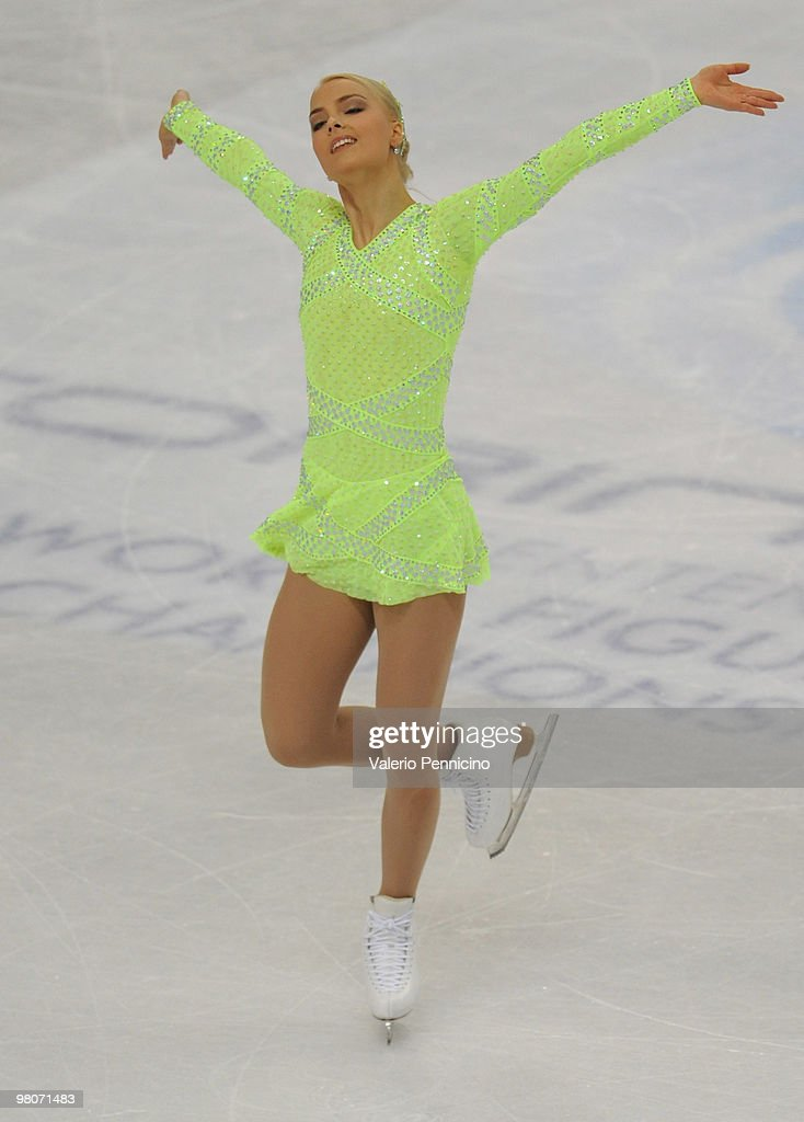 Kiira Korpi of Finland competes during the Ladies Short Program at the 2010 ISU World Figure Skating Championshipson March 26 2010 in Turin Italy