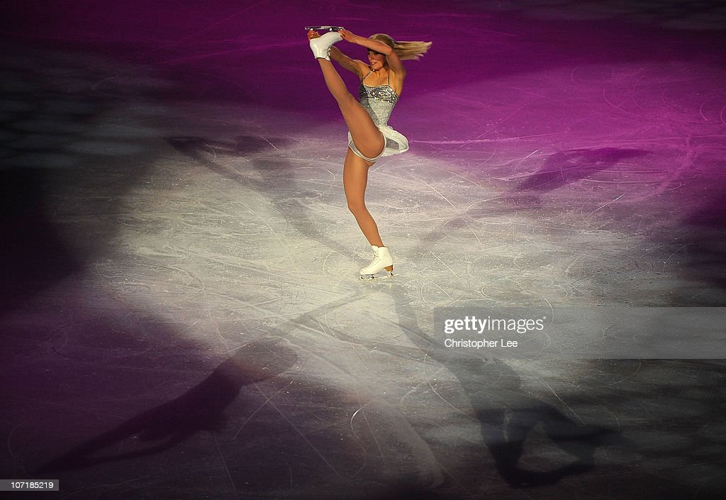 <a gi-track='captionPersonalityLinkClicked' href=/galleries/search?phrase=Kiira+Korpi&family=editorial&specificpeople=728663 ng-click='$event.stopPropagation()'>Kiira Korpi</a> of Finland performs in the Gala during the ISU GP Trophee Eric Bompard 2010 at the Palais omnisport de Paris Bercy on November 28, 2010 in Paris, France.