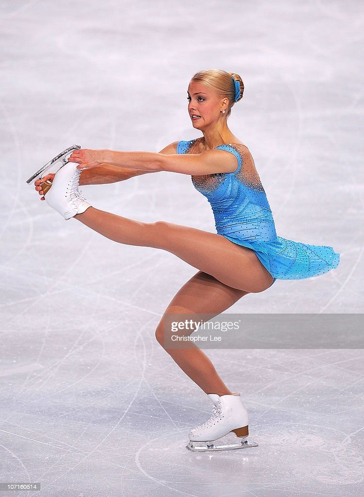 <a gi-track='captionPersonalityLinkClicked' href=/galleries/search?phrase=Kiira+Korpi&family=editorial&specificpeople=728663 ng-click='$event.stopPropagation()'>Kiira Korpi</a> of Finland performs in the Ladies Short Program during the ISU GP Trophee Eric Bompard 2010 at the Palais omnisport de Paris Bercy on November 26, 2010 in Paris, France.