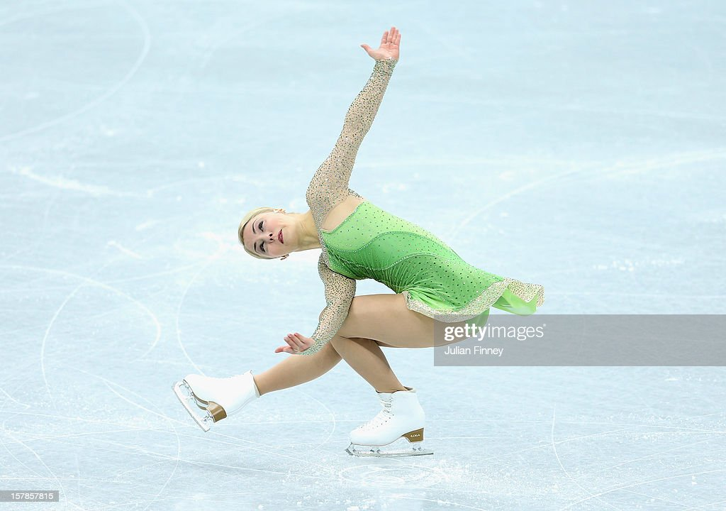 Kiira Korpi of Finland performs in the Ladies Short Program during the Grand Prix of Figure Skating Final 2012 at the Iceberg Skating Palace on...
