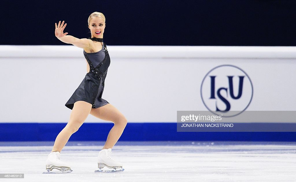<a gi-track='captionPersonalityLinkClicked' href=/galleries/search?phrase=Kiira+Korpi&family=editorial&specificpeople=728663 ng-click='$event.stopPropagation()'>Kiira Korpi</a> of Finland performs on ice during the ladies short program of the ISU European Figure Skating Championships on January 29, 2015 in Stockholm, Sweden.