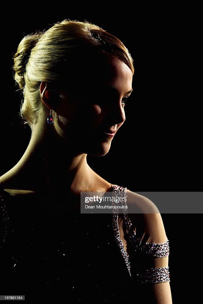 Kiira Korpi of Finland poses after winning the Silver medal in the Ladies Free Skating during the ISU European Figure Skating Championships at...