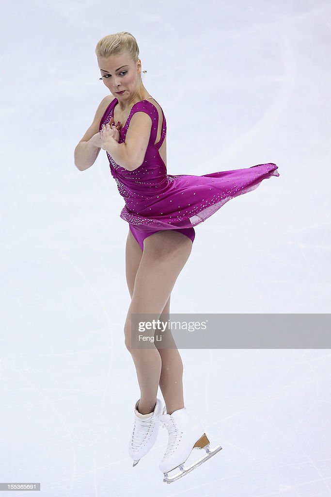 <a gi-track='captionPersonalityLinkClicked' href=/galleries/search?phrase=Kiira+Korpi&family=editorial&specificpeople=728663 ng-click='$event.stopPropagation()'>Kiira Korpi</a> of Finland skates in Ladies Free Skating during Cup of China ISU Grand Prix of Figure Skating 2012 at the Oriental Sports Center on November 3, 2012 in Shanghai, China.