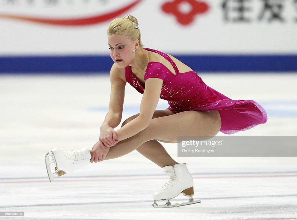 <a gi-track='captionPersonalityLinkClicked' href=/galleries/search?phrase=Kiira+Korpi&family=editorial&specificpeople=728663 ng-click='$event.stopPropagation()'>Kiira Korpi</a> of Finland skates in the Ladies Free Skating during ISU Rostelecom Cup of Figure Skating 2012 at the Megasport Sports Center on November 10, 2012 in Moscow, Russia.