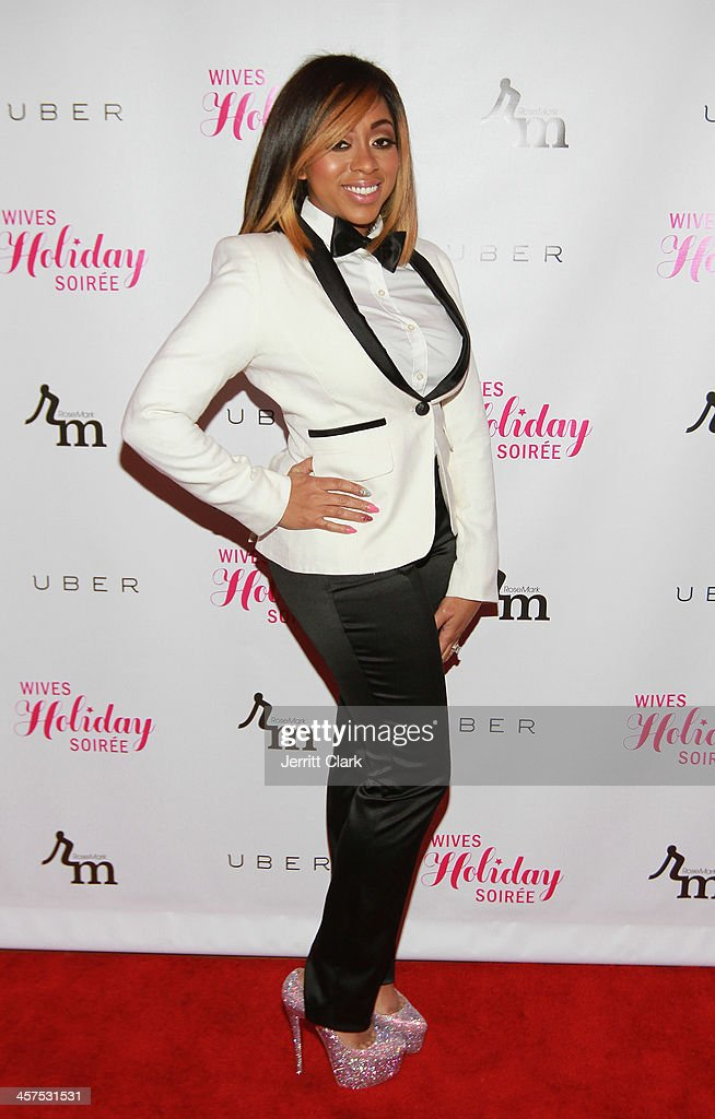 Kijafa Vick attends the NBA & NFL Wives Holiday Cocktail Mixer at Pranna Restaurant on December 17, 2013 in New York City.