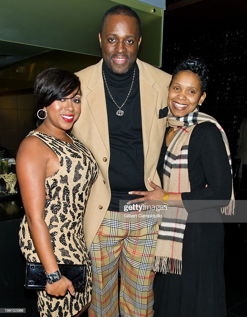 Kijafa Vick, Charlie Mack Alston and wife Tasha Mack Alston attend An Evening With 7, at 7, On the 7th at on January 7, 2013 in Philadelphia City.
