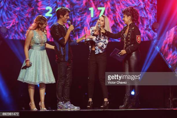 Kika Nieto speaks on stage during the MTV MIAW Awards 2017 at Palacio de Los Deportes on June 3 2017 in Mexico City Mexico