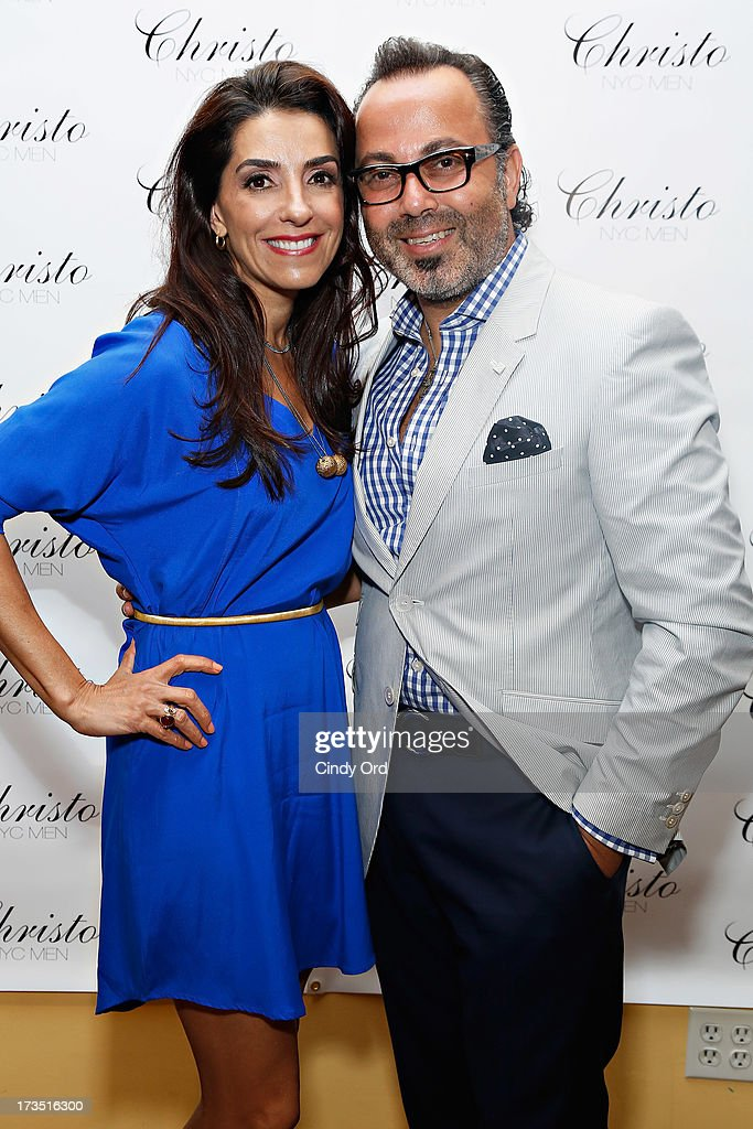 Kika Rocha and Christo attend the Christo Men NYC Press Preview at Christo Fifth Ave on July 15, 2013 in New York City.