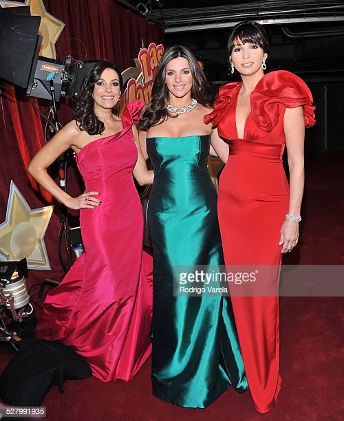 kika Rocha Barbara Bermudo and Giselle Blondet arrive at Univisions 2010 Premio Lo Nuestro a La Musica Latina Awards at American Airlines Arena on...