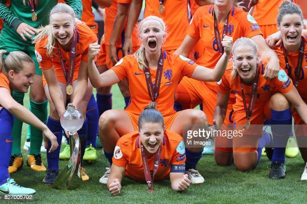 Kika van Es of Holland Women Sherida Spitse of Holland Women Jackie Groenen of Holland Women Kelly Zeeman of Holland Women during the UEFA WEURO 2017...