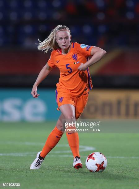 Kika van Es of the Netherlands in action during the UEFA Women's Euro 2017 Group A match between Belgium and Netherlands at Koning Willem II Stadium...