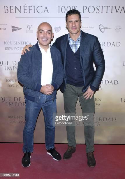 Kike Sarasola and Carlos Marrero attend the 'Lo Que De Verdad Importa' premiere at the Hotel Vincci Capitol on February 15 2017 in Madrid Spain
