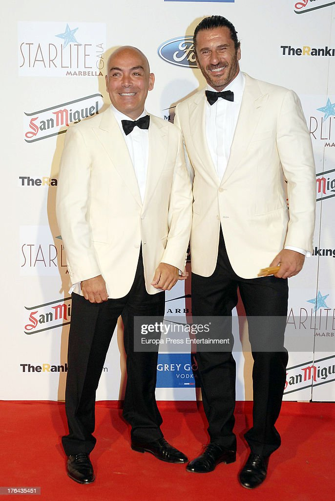 Kike Sarasola and guest attend the 4rd annual Starlite Charity Gala on August 10, 2013 in Marbella, Spain.