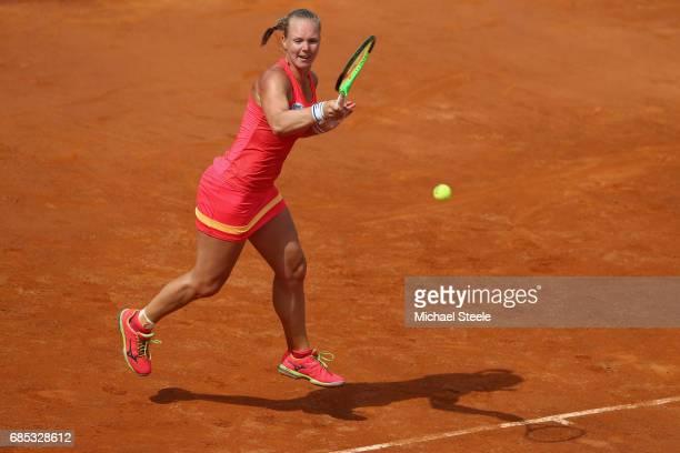 Kiki Bertens of Netherlands in action during the women's quarterfinal match against Daria Gavrilova of Australia on Day Six of the Internazionali BNL...
