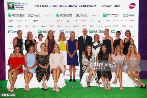 Kiki Bertens of Netherlands Johanna Larsson of Sweden YiFan Xu of China Gabriela Dabrowski of Canada Melissa Pine WTA Finals Tournament Director...